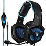 [LETTON 2016 Version Vibration PC Gaming Headset] LETTON G1 Wired Stereo Gaming Headset LED Lighting Over Ear Headphone Mic Vibration Integrated Subwoofer PC Mac Laptop