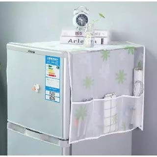 31mDov cQ9L SVK Dream Home Transparent Printing Waterproof Cloth dust Cover Household Refrigerator Cover Towel Hanging Storage Bag Flamingo 130 X 55cm in White Color (Color May Vary)
