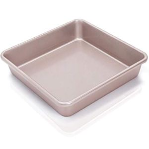 CHEFMADE Cake Tin 9 Inch Carbon Steel Square Cake Pan Deep Dish Bakeware, Baking Tin Non Stick Oven Baking Mould 22 x 22cm 31mP 2BfoX0 L