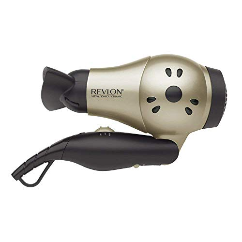 1875W Compact Travel Hair Dryer Ionic Technology, 110-220 Volts Dual Voltage (with Tmvel Worldwide UK/US/AU/EU European Plug Adapter)