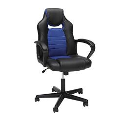 OFM Essentials Collection Racing Style Gaming Chair, in Blue
