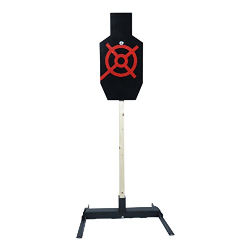 ShootingTargets7 IPSC AC Static Torso 3/8 inch AR500 + Base + Cap 12 x 24 inch for Rifles to 308