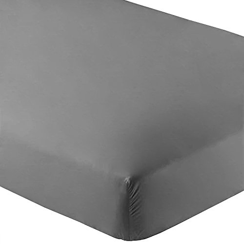 Bare Home Fitted Bottom Sheet Premium 1800 Ultra-Soft Wrinkle Resistant Microfiber, Hypoallergenic, Deep Pocket (King, Grey)
