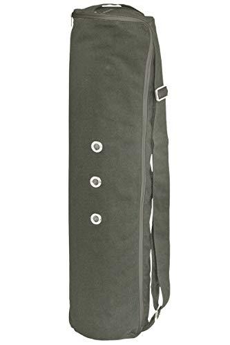 Meru Large Yoga Mat Bag The Original Smart Yoga Bag - Better by Design. Fits Most Mats - 3 Storage Pockets - Easy Access Zipper - Dual Air-Flow - Gray