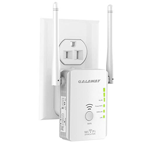 GALAWAY Extender, 300Mbps WiFi Range Extender 2.4GHz Wireless WiFi Repeater with External Antennas