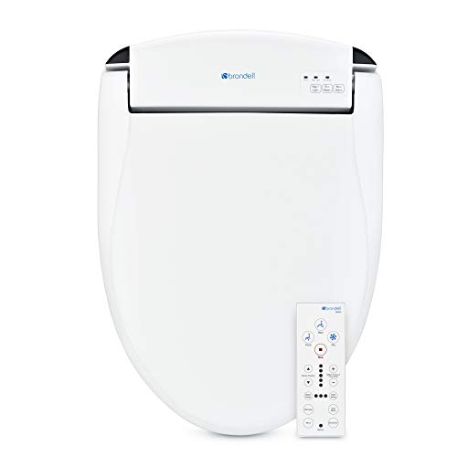 Brondell Swash SE600 Bidet Seat in Elongated White with Air Dryer and Stainless-Steel Nozzle   Nightlight   Deodorizer   Remote Control