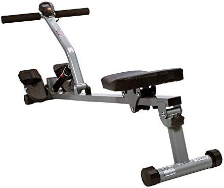 Sunny Health & Fitness SF-RW1205 12 Adjustable Resistance Rowing Machine Rower w/Digital Monitor 10