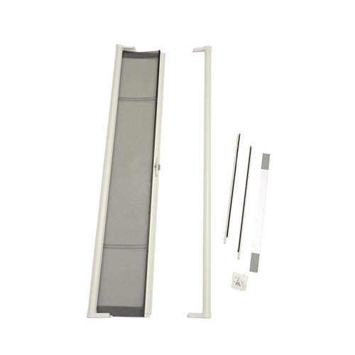 ODL Brisa Premium Retractable Screen for 80 in. Inswing Hinged Doors - White