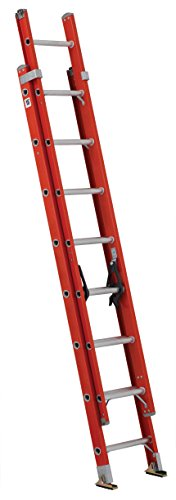 Louisville Ladder FE3216 Fiberglass Extension Ladder 300-Pound Capacity, 16-Feet