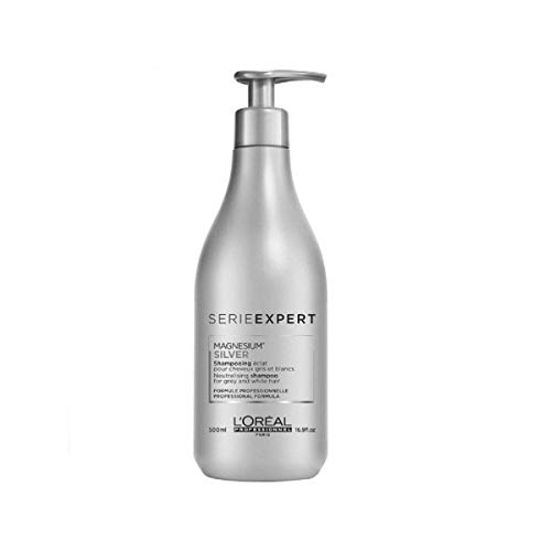 L'Oreal Serie Expert Silver Shampoo Unisex Shampoo, 16.9 Ounce