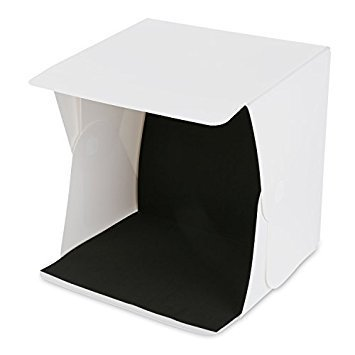 Amzdeal Light Box Kit 16' x 16' Foldable Studio Light Box Portable Photo Studio Tent Photography Studio Tent with LED Light (White& Black Backdrops)