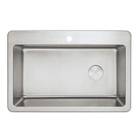 Zuhne-Offset-Drain-Kitchen-Sink-16-Gauge-Stainless-Steel-33-by-22-Drop-In-Top-Mount
