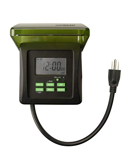 Woods 50015WD Outdoor 7-Day Heavy Duty Digital Plug-in Timer, 2 Grounded...