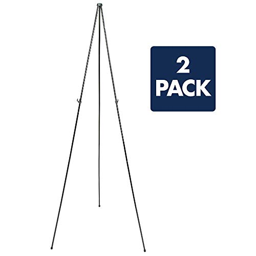 """Quartet Easel, Instant Easel Stand, 63"""", Supports 5 lbs., Tripod Base, 2 Pack (29EAZ2)"""