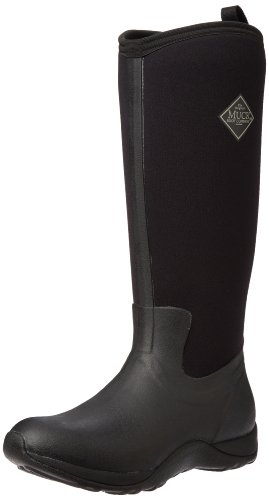 Muck Arctic Adventure Tall Rubber Women's Winter Boots, 7 M US, Black/Black