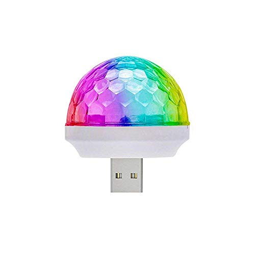 LED Car USB Atmosphere Light,USB Disco Ball Party Light MINI Portable Strobe Lights for Kid's Birthday Parties Stage DJ Lighting Christmas Disco Decoration