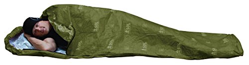 S.O.L. Survive Outdoors Longer Escape Bivvy OD Green, 70 Percent Heat Reflective, Breathable Personal Shelter, Lightweight Emergency Survival Sleeping Bag Sack, Drawstring Bag, Water-Resistant, 8.1oz
