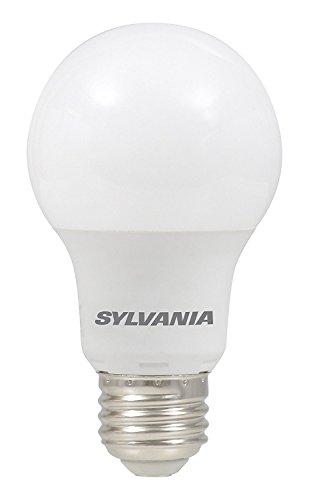 SYLVANIA, 40W Equivalent, LED Light Bulb, A19 Lamp, 4 Pack, Daylight, Energy Saving & Longer Life, Value Line, Medium Base, Efficient 6W, 5000K