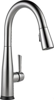 Delta 9113T-AR-DST Essa Single-Handle Pull-Down Touch Kitchen Faucet with Touch2O Technology and Magnetic Docking Spray Head, Arctic Stainless