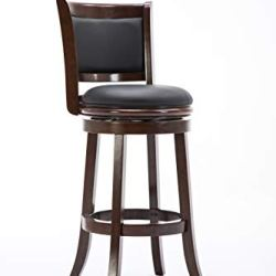 Boraam Augusta Bar Height Swivel Stool, 29-Inch, Cappuccino