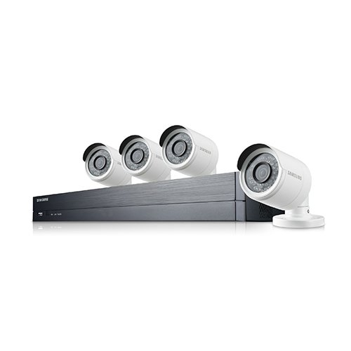 Samsung Wisenet SDH-B73043 4 Channel 1080p HD 1TB Security Camera System with 4 Outdoor BNC Bullet Cameras SDC-9443BC (Renewed)