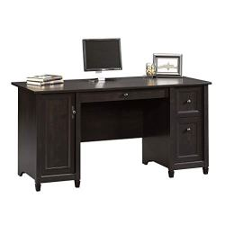 Sauder 408558 Edge Water Computer Desk, Estate Black L: 59.06″ x W: 23.23″ x H: 29.02″,