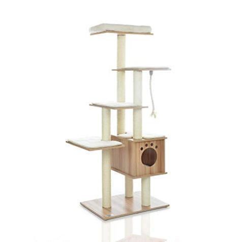 LAZY-BUDDY-67-Wooden-Cat-Tree-New-Arrival-Modern-Cat-Tower-5-Levels-for-Cats-Activity-Cat-Furniture-with-Removable-and-Washable-Mats-for-Kittens-Large-Cats-and-Pets-Medium