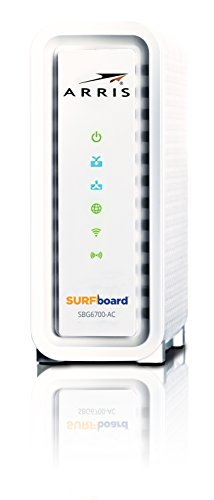 ARRIS Surfboard SBG6700AC-RB DOCSIS 3.0 Cable Modem/Wi-Fi AC1600 Router - (Renewed) - White