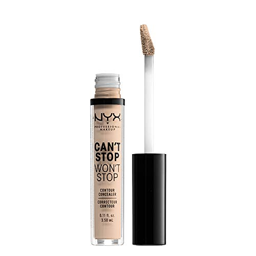 NYX PROFESSIONAL MAKEUP Can't Stop Won't Stop Contour Concealer – Alabaster, With Neutral Undertone