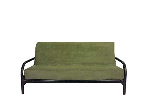 OctoRose Full Size Bonded Classic Soft Micro Suede Futon Cover (Sage Green)