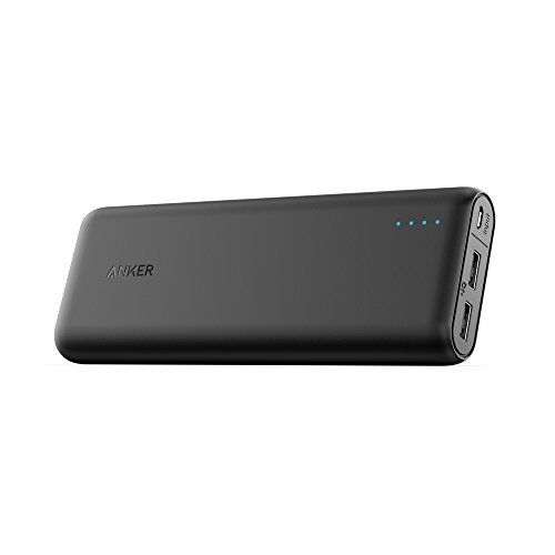 Portable Charger Anker PowerCore 20100mAh - Ultra High Capacity Power Bank with 4.8A Outputand and PowerIQ Technology, External Battery Pack for iPhone, iPad & Samsung Galaxy & More (Black)