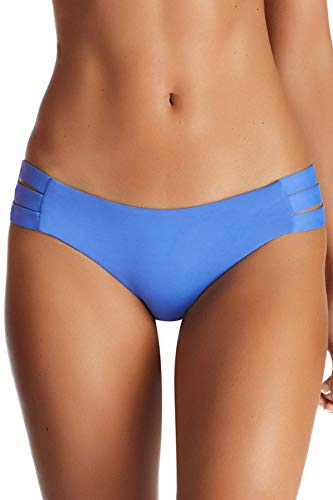 """71%2B0AX%2Bk6SL EMELIA TRIPLE STRAP BOTTOM: Triple threat. This is a clean, full coverage bottom with three straps at the side. Lays flat against the body, softly giving your hips a hug. SIZING: XS-2-4: waist 24-26"""", hips 35-37"""" / S-6: waist 26-28"""", hips 37-39"""" / M-8: waist 28-29"""", hips 39-41"""" / L-10: waist 29-30"""", hips 41-43"""" / XL-12: waist 30-31.5"""", hips 43-45"""" MIX & MATCH: Vitamin A swimwear is created to provide seamless mixing between collections, giving you the options you need to show off your signature style."""