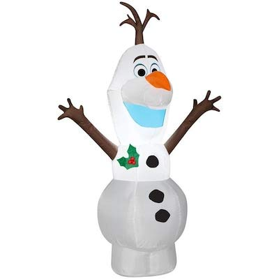 Gemmy 4FT Tall Olaf Inflatable Indoor/Outdoor Decoration