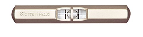 Starrett 135A Pocket Level With Satin Nickel-Plated Finish, 2-1/2' Size