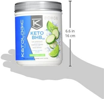 KetoLogic Keto BHB Exogenous Ketones Powder Supplement: Cucumber Lime (60 Servings) - Boosts Ketosis, Increases Energy & Focus, Suppresses Appetite – Supports Keto Diet & Weight Management 10