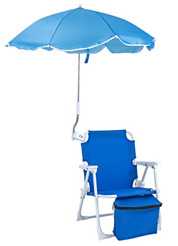 Sorbus Camping Chairs, Foldable Frame, and Portable Carry Bag, Great for Camping, Sporting Events, Beach, Travel, Backyard, Patio, etc (Kid Umbrella Chair – Blue)