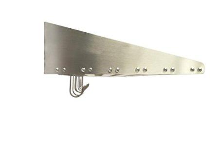 Mecete-304-Stainless-Steel-Standard-Wall-Shelf-Cookware-Storage-Organizer-Kitchen-Wall-Pot-Pan-RackWith-6-Hooks-Capacity-60-lb