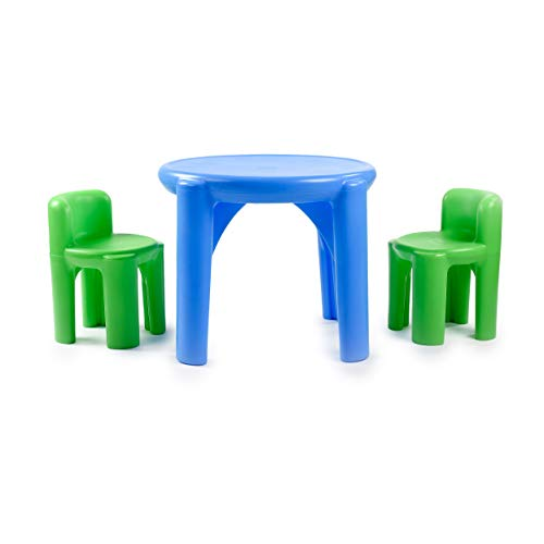 Little Tikes Bright 'n Bold Table & Chairs, Green/Blue