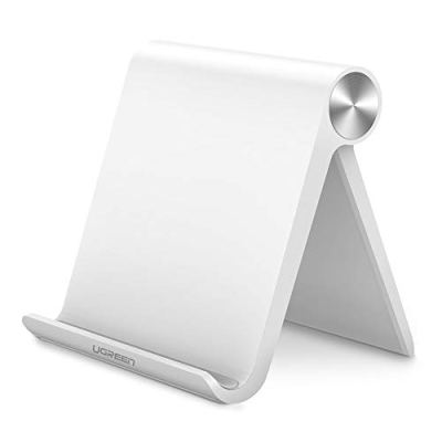 UGREEN Supporto da Tavolo Porta Tablet e Cellulare Multi-Angolo Regolabile a 100 Gradi Phone Holder per iPad, iPhone, Smartphone Samsung, Huawei,Xiaomi etc. (Bianco)