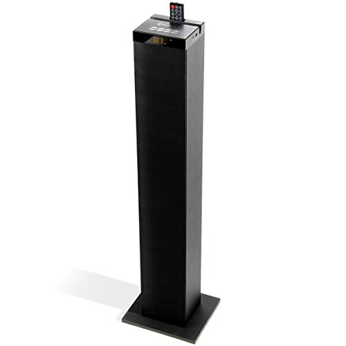 GOgroove Bluetooth Tower Speaker with Built-in Subwoofer - BlueSYNC STW Standing Speaker Tower with Thumping Bass, Immersive 120W Peak Power, AUX, Flash Drive MP3, FM Radio, USB Charging (Single Unit)