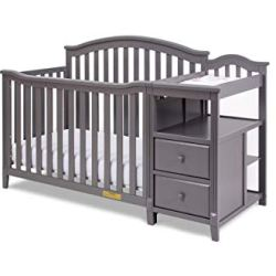 AFG Kali 4-in-1 Crib with Changer Grey