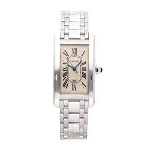 Cartier Tank Americaine Mechanical (Automatic) Silver Dial Womens Watch W2603656 (Certified Pre-Owned)