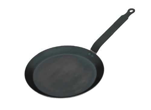 HIC Crepe Pan, Blue Steel, Made in France, 8-Inch Cooking Surface, 9.5-Inches Rim to Rim