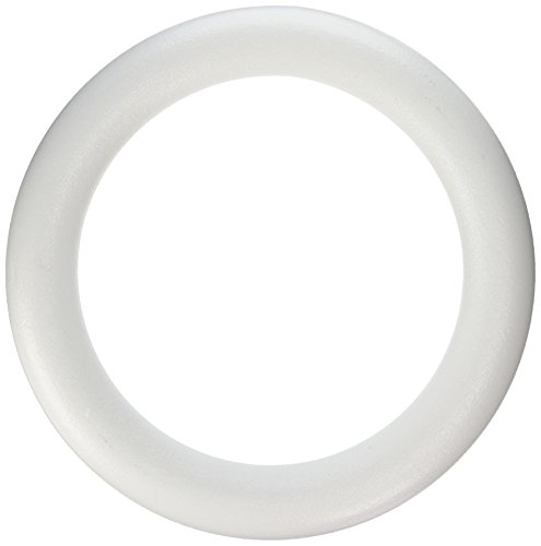 FloraCraft STYROFOAM Wreath Form: 13.8 inch Ring, White, 1 Piece