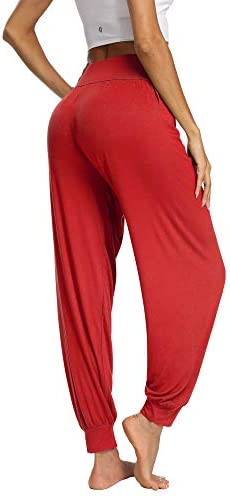 PACBREEZE Women's Harem Yoga Lounge Pants Soft Loose Dance Pilates Workout Pants 5