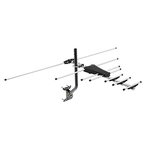 GE Pro Outdoor Yagi TV Antenna, HDTV Antenna, Attic, Compact Design, Long Range Antenna, Digital Yagi Antenna, Directional Antenna, 4K 1080P VHF UHF, 33685