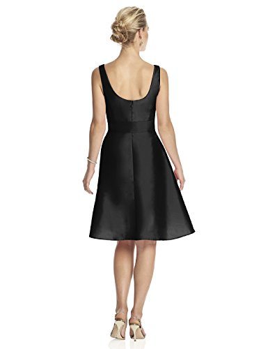 31tHDzbj2JL Cocktail length wrap Bodice v-neck peau de soie dress Circle skirt and self sash Beautiful dress for many occasions!