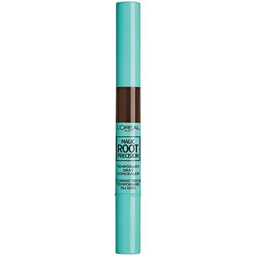 L'Oreal Paris Hair Color Magic Root Precision Temporary Gray Hair Color Concealer Brush, 5 Medium Brown, 0.05 Fl Oz