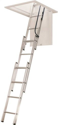 WERNER LADDER AA1510 AA1510B Ladder Aluminum Attic, 250 lb.
