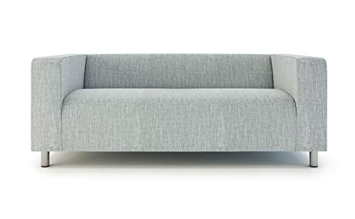 Klippan Loveseat Slipcover For The Ikea 2 Seater Klippan Loveseat Sofa Cover Replacement Polyester Light Grey